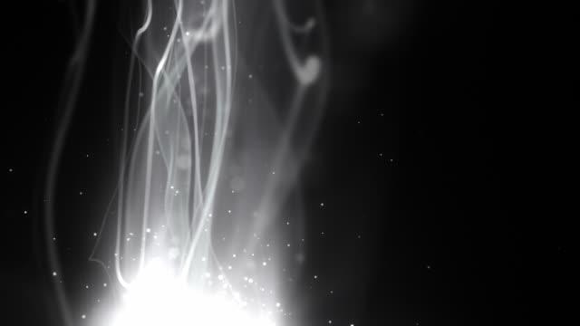 流れるような軽い縞の背景ループシルバースト垂直 hd - 光 ライン点の映像素材/bロール
