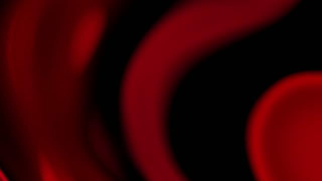onde liquide fluire movimento astratto 4k loop sfondo - red video stock e b–roll
