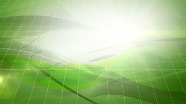 vídeos de stock, filmes e b-roll de fluindo moderno com ondas de fundo de loop-verde (full hd - fundo branco