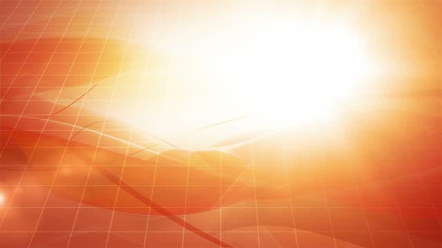 flowing modern waves background loop - orange (full hd) - orange colour background stock videos & royalty-free footage