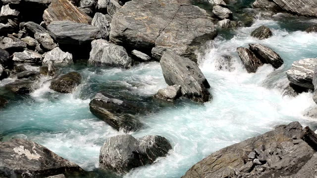 flowing river in new zealand - cascade range stock videos & royalty-free footage