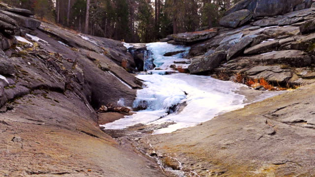 flowing spring water. sierra nevada mountains - melting stock videos & royalty-free footage