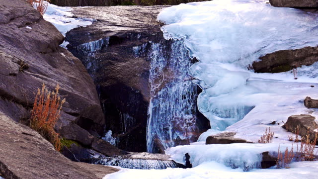 flowing spring water. sierra nevada mountains - yosemite national park video stock e b–roll
