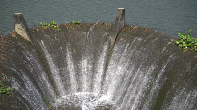 flowing water at dam - drain stock videos & royalty-free footage