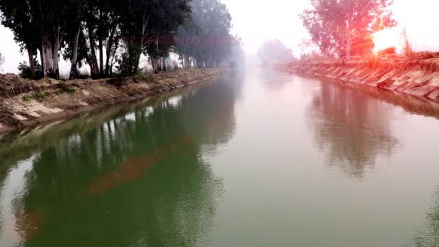 fließendes wasser im fluss im frühling - haryana stock-videos und b-roll-filmmaterial