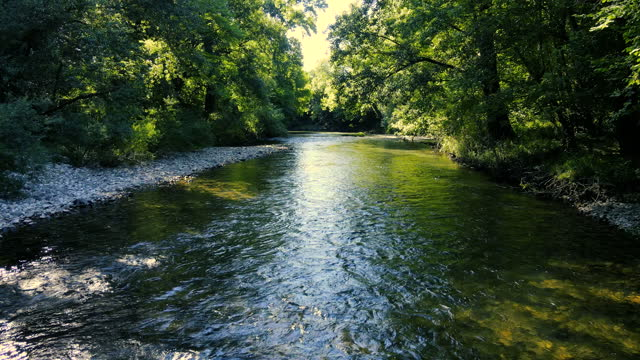 flowing water of a shallow river - flowing stock videos & royalty-free footage