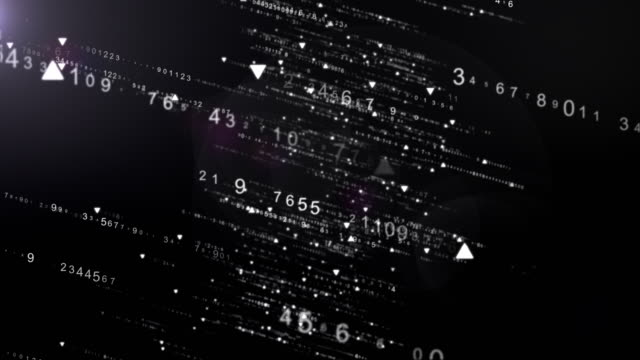 Flows of Random Numbers, Matrix Background, Futuristic Technology Background