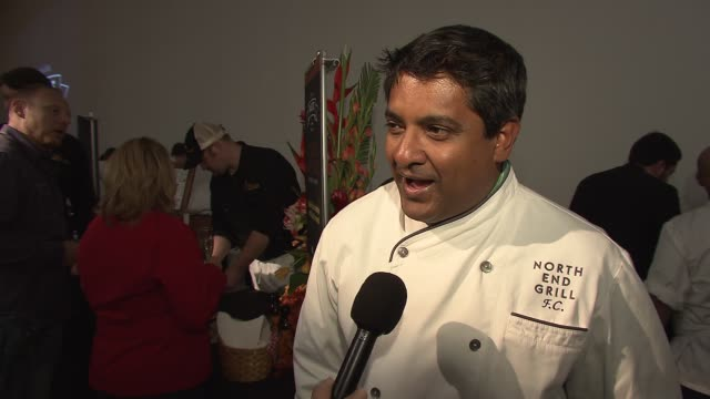 floyd cardoz of north end grill on the first thing he ever cooked at the new york taste a world of flavors presented by hsbc premier at new york ny - north york stock videos & royalty-free footage
