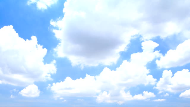 TL HD : Fluffy clouds and blue sky