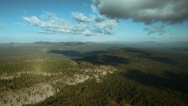 Fluffy Clouds Over Lassen National Forest