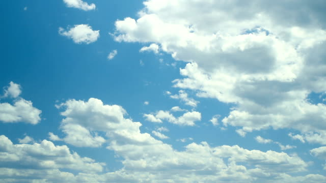 fluffy clouds timelapse - cumulus cloud stock videos & royalty-free footage