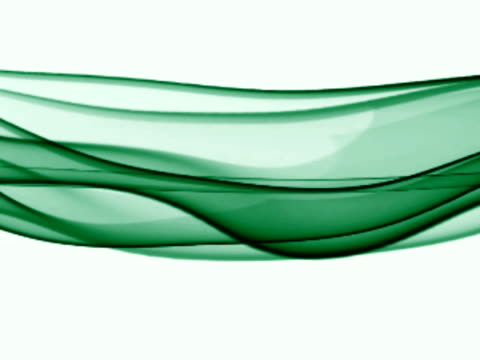 Fluid Green Lines Against a White Background