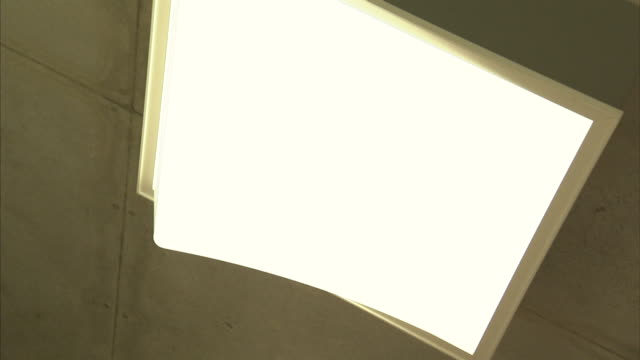 a fluorescent light flickers on and off. - fluorescent light stock videos & royalty-free footage