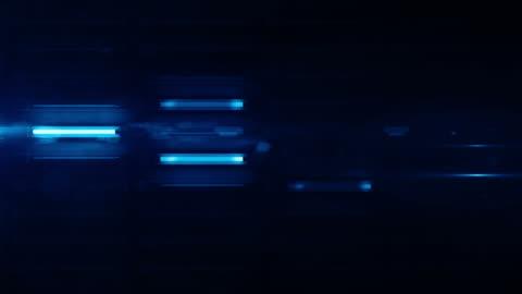 vídeos y material grabado en eventos de stock de luz fluorescente pared bucle de fondo-azul brillo (full hd) - letrero de neón