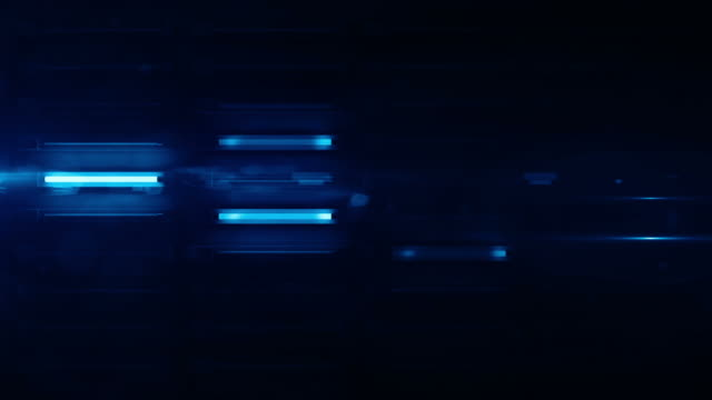Fluorescent Light Wall Background Loop - Blue Glow (Full HD)