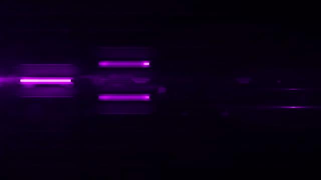 Fluorescent Light Wall Background Loop - Purple Glow (Full HD)