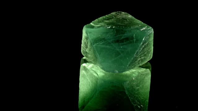 fluorit - rotating mineral - fluorite crystal stock videos & royalty-free footage