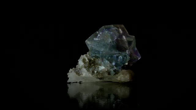 fluorit - rotating mineral - fluorite stock videos & royalty-free footage
