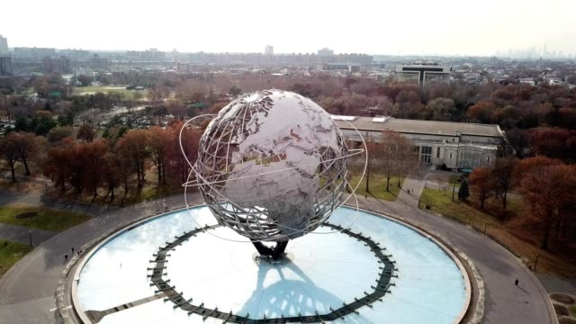 "flushing meadow park ""the world"" - flushing meadows corona park stock videos and b-roll footage"