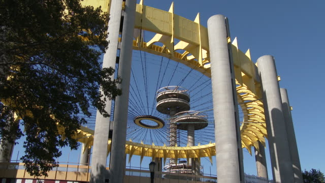 flushing meadows / ny state pavilion - queens nyc - flushing meadows corona park stock videos and b-roll footage