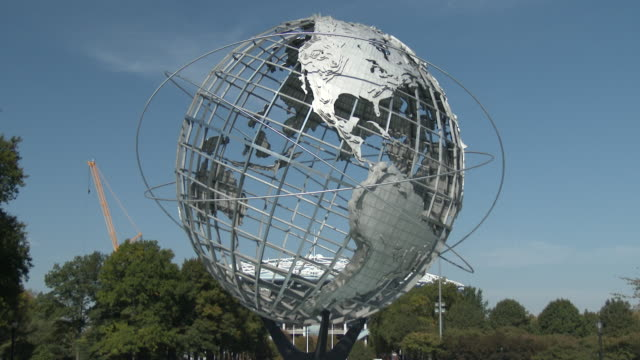 flushing meadows park unisphere - queens nyc - flushing meadows corona park stock videos & royalty-free footage