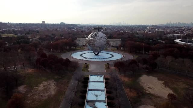 "flushing ""the world"" in queens - flushing meadows corona park stock videos & royalty-free footage"