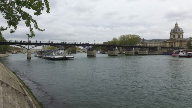 fly boat on the seine - seine river stock videos and b-roll footage