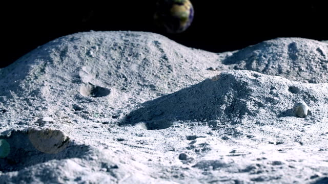 fly by  on the moon! - moon stock videos & royalty-free footage