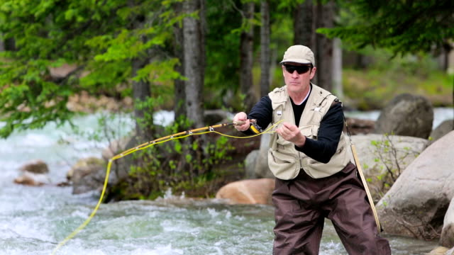 Fly Fishing in Mountain River