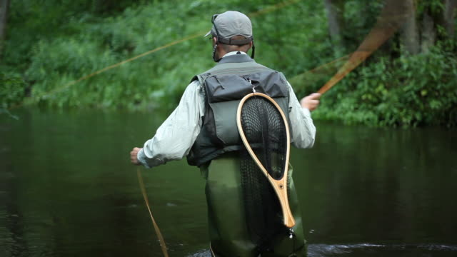 fly fishing - fly fishing stock videos and b-roll footage