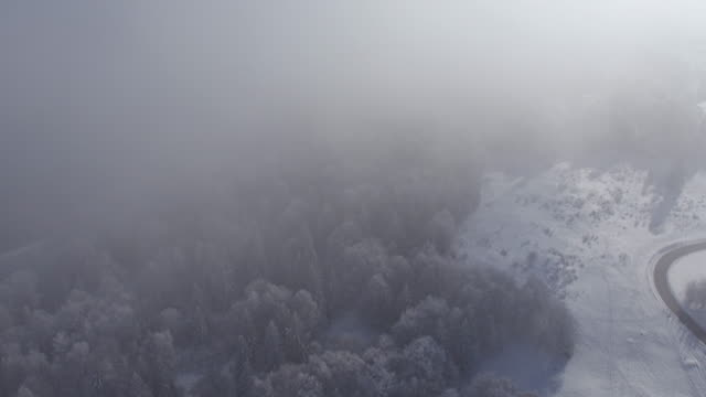 fly over cloud on mountain saleve - mont blanc stock videos & royalty-free footage