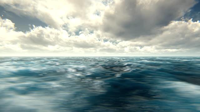 Fly over rough seas