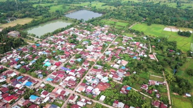 タイの農村の上空を飛ぶ - タイ王国点の映像素材/bロール