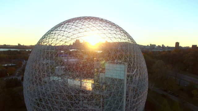 Fly over the Montreal Biosphere