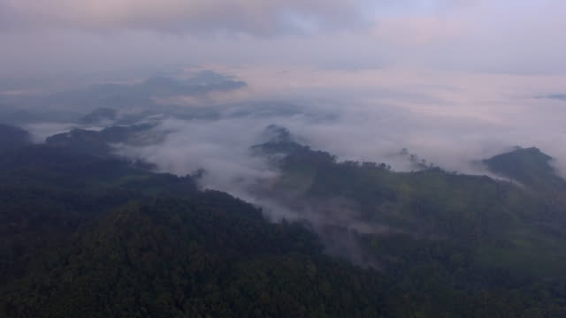 Fly over the mountains of Northern Laos