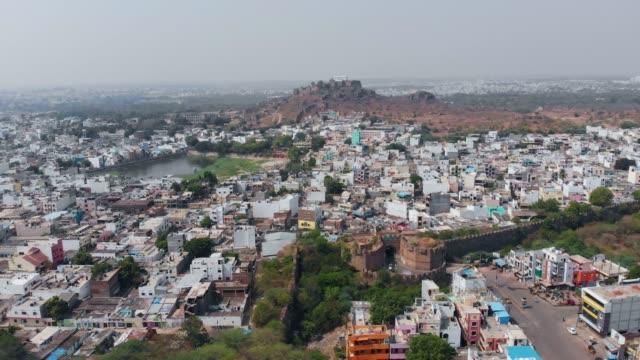 fly toward golkonda fort, hyderabad - 4k resolution stock videos & royalty-free footage
