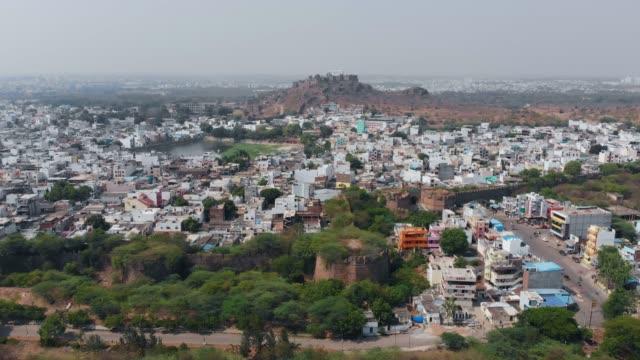 fly toward golkonda fort, hyderabad - india politics stock videos & royalty-free footage
