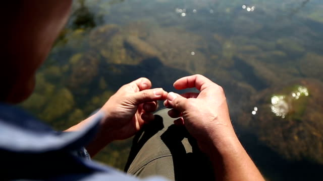 fly tying - fishing line stock videos & royalty-free footage