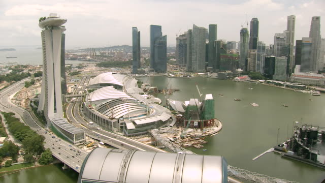 ms flyer capsule / singapore - marina bay sands stock videos and b-roll footage