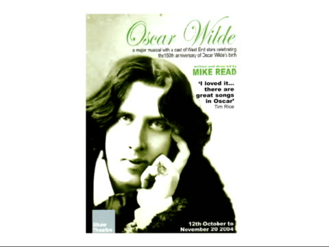 flyer for 'oscar wilde' musical / graphic tim rice review - tim rice stock videos & royalty-free footage