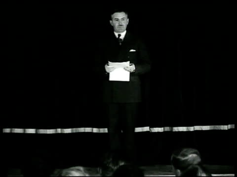 Flyer 'Tonight 830 Main Auditorium Captain Hugh J Casey The Passamaquoddy Project' Captain Hugh J Casey on stage saying the tide there could be made...