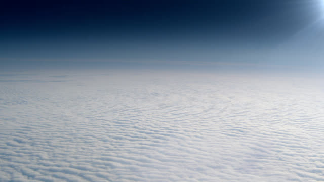 Flying above clouds