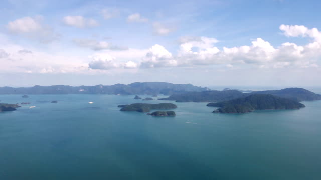 flying above langkawi island in malaysia - malaysia stock videos & royalty-free footage