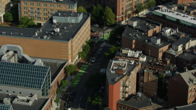 flying above of the commercial street at the north end neighborhood - 1910 1919 stock videos & royalty-free footage