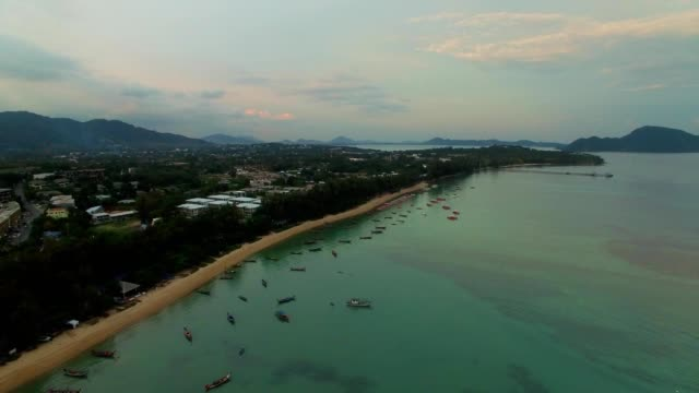Flying above Rawai Beach, Phuket, Thailand