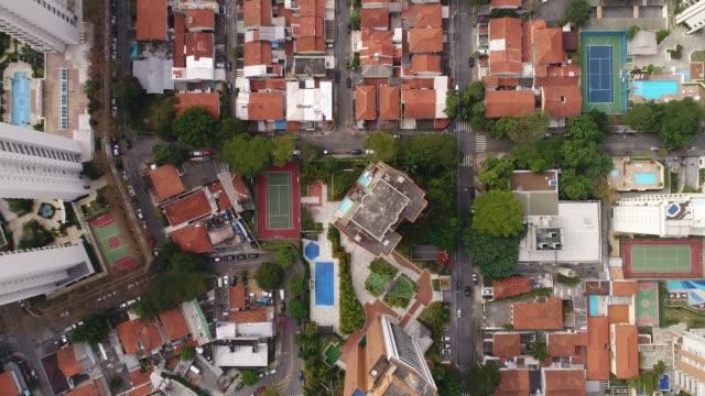 Flying above Sao Paulo city, Brazil