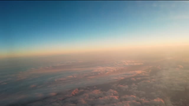 flying above the cloud sky - horizon over land stock videos & royalty-free footage