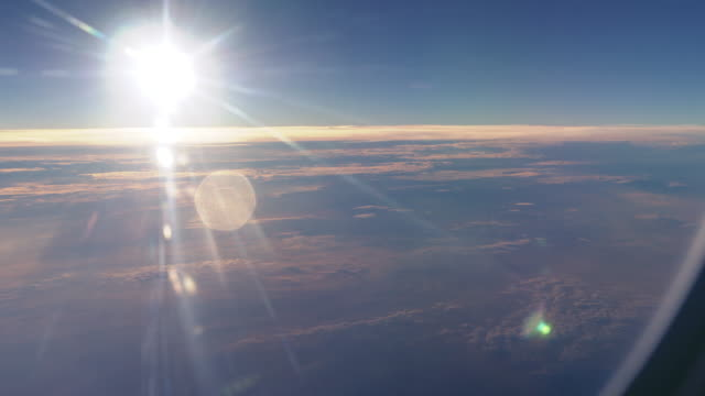 Flying Above the Clouds Airplane View