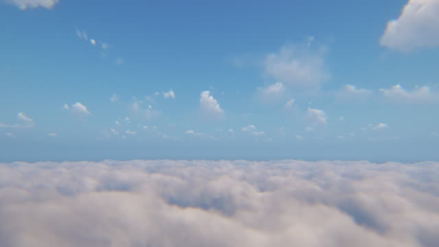 flying above the clouds - sky only stock videos & royalty-free footage