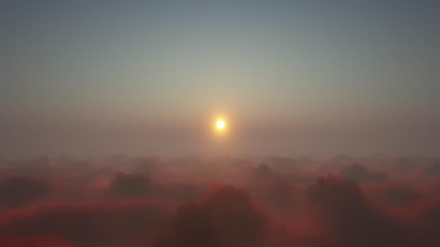 vídeos y material grabado en eventos de stock de volando por encima de las nubes - onírico